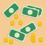 Bank, monety, pieniądze Obraz Royalty Free