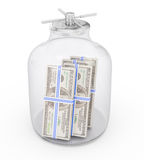 Bank with money Royalty Free Stock Image
