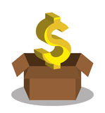 Bank and money investment. Graphic design,  illustration eps10 Stock Images