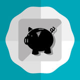 Bank, money and online payment. Graphic design,  illustration eps10 Stock Image