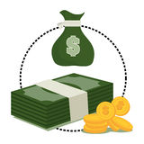 Bank, money and online payment. Graphic design, vector illustration eps10 Royalty Free Stock Image