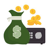 Bank, money and online payment. Graphic design, vector illustration eps10 Stock Photography