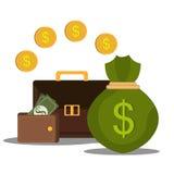 Bank and money savings Stock Photography