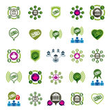 Bank and money theme vector unusual icons set, financial theme v Royalty Free Stock Images