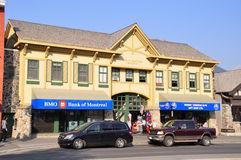 Bank of Montreal, Banff Avenue Royalty Free Stock Photography