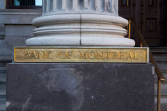Bank of Montreal (BMO) Sign Royalty Free Stock Photography