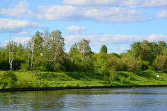 Bank of Moscow Canal in Khimki, Russia Stock Photos