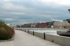 Bank of Moskva-river. In atumun on Moscow of Russia stock photo