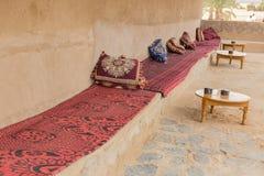 Bank na tarasie w Maroko Zdjęcie Royalty Free