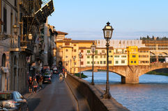 Bank near the Ponte Vecchio Stock Photos