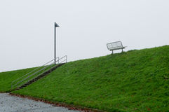 A bank of North See on a winter day. Husum, Germany Stock Photography