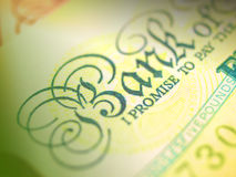 Bank Note. Focusing on word bank Stock Images