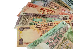 Bank note arrangement - isolated Royalty Free Stock Photography