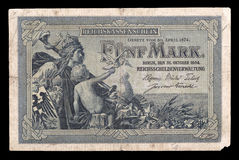 Bank note of Keiser Germany. 1904. Obverse. Stock Image