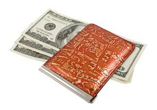 Bank-note and purse Royalty Free Stock Images