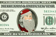 Bank note with Santa Claus Royalty Free Stock Photos