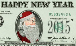 Bank note with Santa Claus Stock Photos