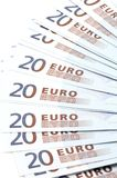 Bank note twenty Euro Royalty Free Stock Photo