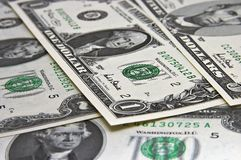 Bank notes. Different US bank notes Royalty Free Stock Photos