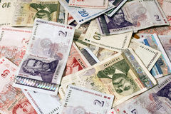 Bank-notes of Bulgarian money Royalty Free Stock Photography