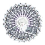 Bank notes in circle Royalty Free Stock Photo