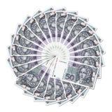 Bank notes in circle Royalty Free Stock Photo