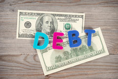 Bank notes and loan alphabet Stock Photo