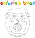 Bank Of Raspberry Jam Coloring Book Stock Photography