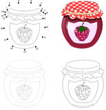 Bank Of Raspberry Jam. Dot To Dot Game For Kids Stock Photos