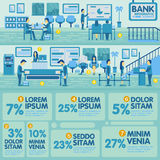 Bank Office Info graphic Elements. Design Royalty Free Stock Photo