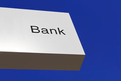 Bank office sign Stock Photos