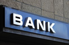 Bank sign Royalty Free Stock Photography
