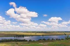 Bank of Oka river.  Russia Stock Photography