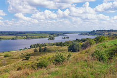 Bank of Oka river (Volga tributary). Central Russia Stock Photos