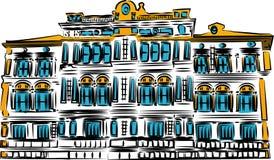 Bank Old Bank on white background - vector illustration. - Vector royalty free illustration