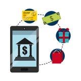Bank online design. Illustration eps10 graphic Royalty Free Stock Image