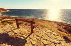 Bank op het strand Royalty-vrije Stock Fotografie