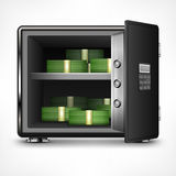 Bank open safe with money Stock Image