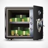 Bank open safe with money Royalty Free Stock Photography