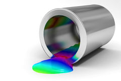 The bank of paint Royalty Free Stock Photos