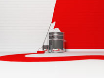 Bank of paint Stock Images