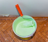 Bank of paint and roller 2 Stock Image