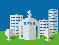 Bank from a paper Stock Images