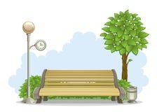 Bank in park royalty-vrije illustratie