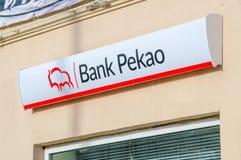 Bank Pekao logo and sign. Royalty Free Stock Photo