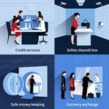 Bank People Set Stock Image