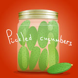Bank pickled cucumbers Stock Image