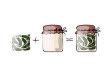 Bank of pickled green pea, sketch for your design Stock Images