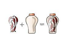 Bank of pickled paprika, sketch for your design Stock Images