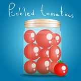 Bank pickled tomatoes Stock Photo
